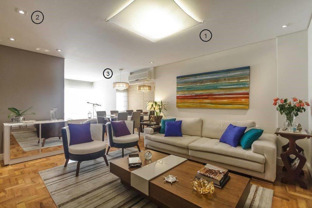 Projeto de iluminação de sala de estar: Tipos de luz e soluções ...