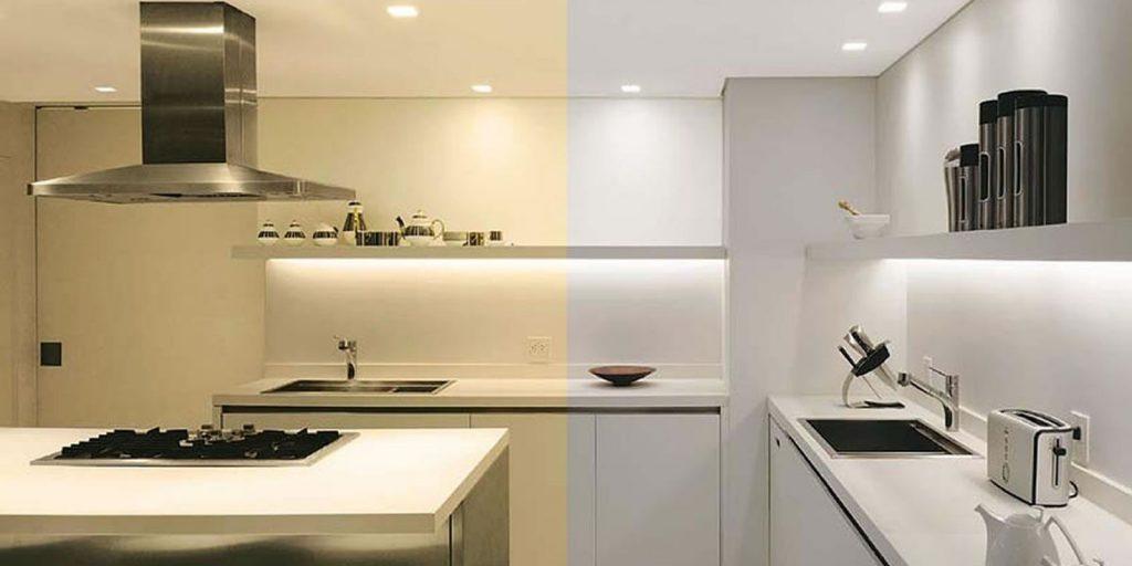 Spot LED Embutir 5W COB Quadrado Direcionável Branco Frio/Quente ...