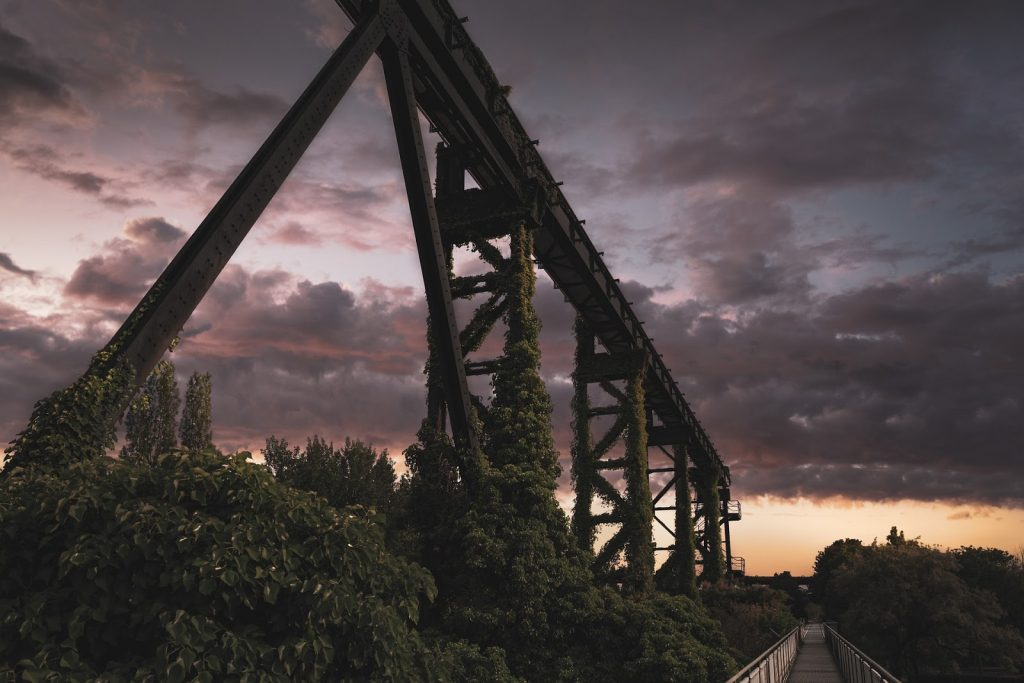 estética e design de ponte amadeirada