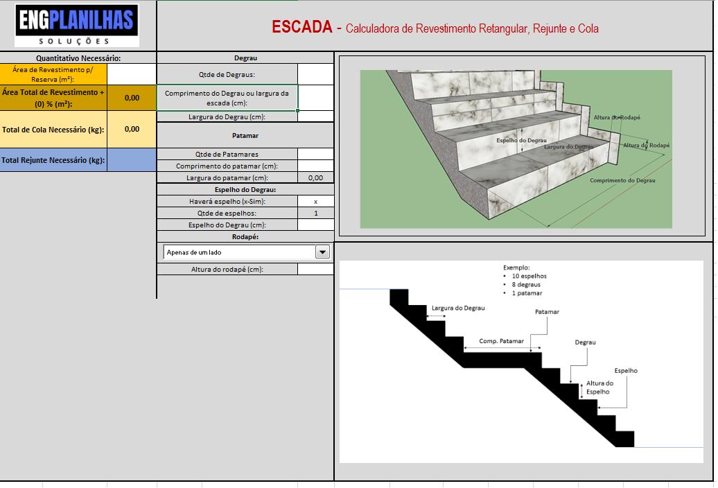 Cálculo para Escada